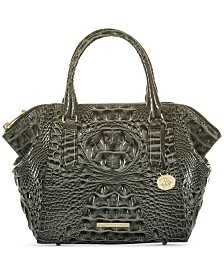 Brahmin Mini Camila Melbourne Embossed Leather Satchel
