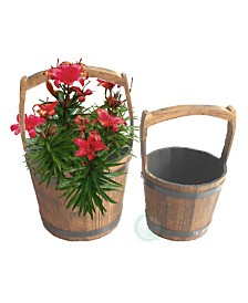 Gardenised Pail Planters, Set of 2