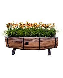 Gardenised Half Barrel Garden Planter - Large