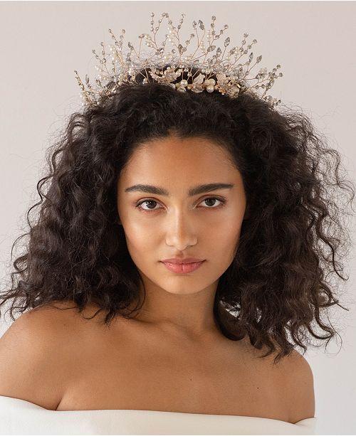 Soho Style AustrianCrystal and Imitation Pearl Bridal Crown