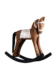 Villa2 Rocking Horse in Weathered Vintage-Inspired Distressed Retro Finish