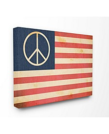 "Peace American Flag Cavnas Wall Art, 16"" x 20"""