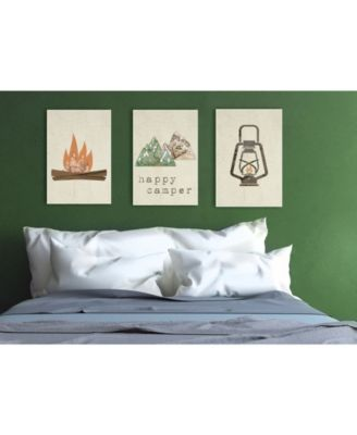 3 10 x 15 The Stupell Home D/écor Collection Happy Camper Mountains and Arrows 3 Piece Wall Plaque Art Set