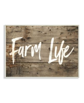 Proudly Made in USA 10 x 0.5 x 15 Stupell Industries Life Is Better On the Farm Typography Wall Plaque Art