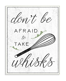 """Stupell Industries Kitchen Take Whisks! Wall Plaque Art, 12.5"""" x 18.5"""""""