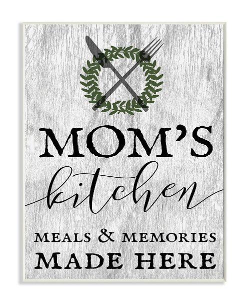 "Stupell Industries Mom's Kitchen Meals and Memories Wall Plaque Art, 12.5"" x 18.5"""