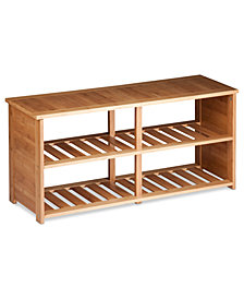 Honey Can Do Shoe Bench, Bamboo