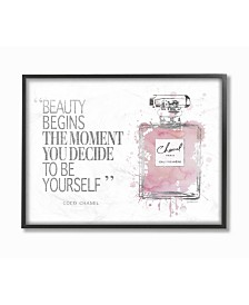 "Stupell Industries Beauty Begins Fashion Perfume Framed Giclee Art, 11"" x 14"""