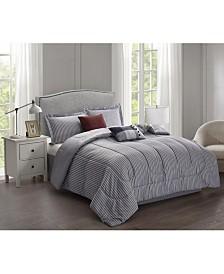 Brown & Grey Kincaid 6-Piece Comforter Set - Full