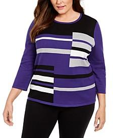Plus Size Classics Colorblocked Sweater
