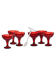 Dublin Red Coupes 12 Piece Set