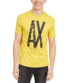 A|X Armani Exchange Men's Floral Logo T-Shirt