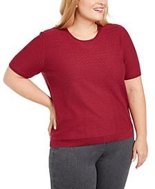 Plus Size Classics Short-Sleeve Sweater