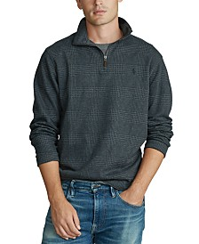 Polo Ralph Lauren Men's Stand-Collar Plaid Sweater