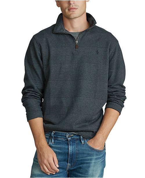 Polo Ralph Lauren Men's Stand-Collar Plaid Sweater