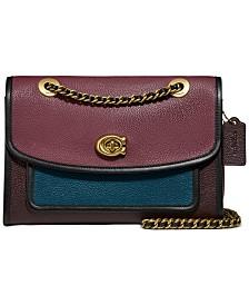 COACH Colorblock Leather Parker Shoulder Bag