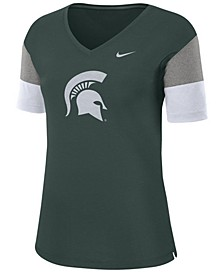 Women's Michigan State Spartans Breathe V-Neck T-Shirt