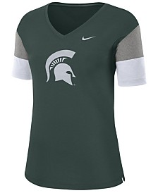 Nike Women's Michigan State Spartans Breathe V-Neck T-Shirt