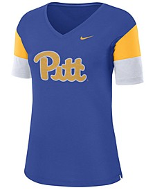 Women's Pittsburgh Panthers Breathe V-Neck T-Shirt