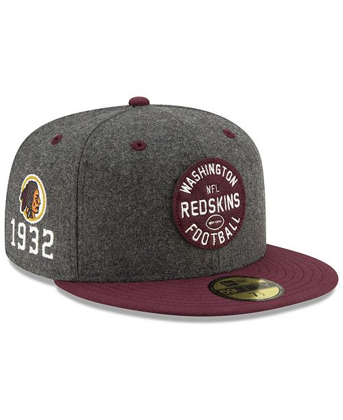 styl mody moda tanie z rabatem Washington Redskins On-Field Sideline Home 59FIFTY-FITTED Cap