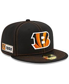 New Era Cincinnati Bengals On-Field Sideline Road 59FIFTY-FITTED Cap