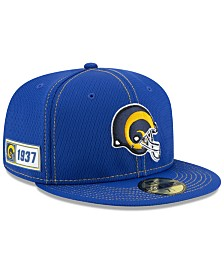 New Era Los Angeles Rams On-Field Sideline Road 59FIFTY-FITTED Cap
