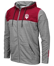 Men's Indiana Hoosiers Nelson Full-Zip Hooded Sweatshirt
