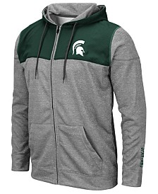 Colosseum Men's Michigan State Spartans Nelson Full-Zip Hooded Sweatshirt
