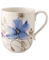 Villeroy & Boch Dinnerware, Mariefleur Gris Latte Macchiato Mug