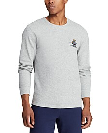 Men's Ski & Rugby Bear Waffle Pajama Shirt, Created for Macy's