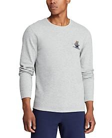 Polo Ralph Lauren Men's Ski & Rugby Bear Waffle Pajama Shirt, Created for Macy's
