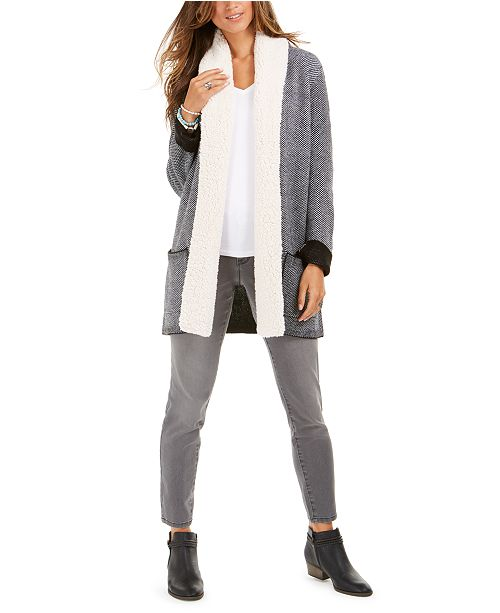 Style & Co Faux-Sherpa Collection, Regular & Petite Sizes, Created For Macy's