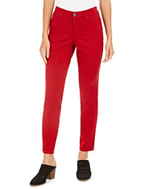 Petite Curvy-Fit Tummy-Control Skinny Jeans, Created for Macy's