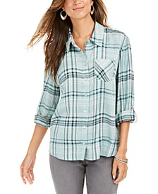Plaid One-Pocket Shirt, Created for Macy's