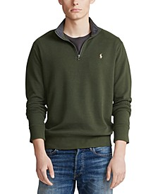 Men's Big & Tall Luxury Jersey Quarter-Zip Sweater