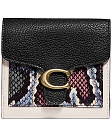 COACH Snakeskin Tabby Small Wallet