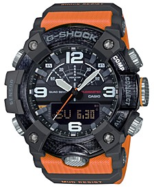 Men's Analog-Digital Connected Mudmaster Orange & Black Resin Strap Watch 53.1mm