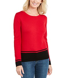 Colorblocked-Hem Sweater, Created for Macy's