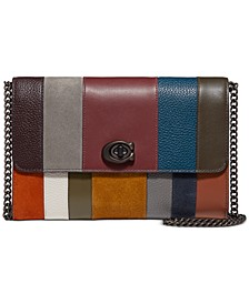 All Over Patchwork Stripes Marlow Leather Crossbody