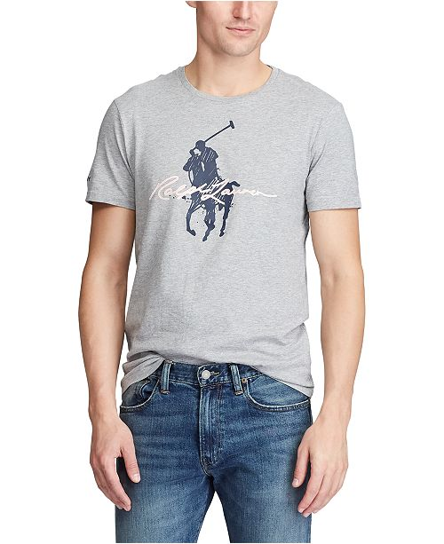 Polo Ralph Lauren Men's Pink Pony Custom Slim Fit T-Shirt