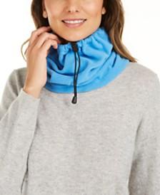 DKNY Drawstring Polar Fleece Neckwarmer