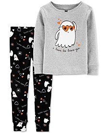 Baby Girls 2-Pc. Cotton Boo-Gie Pajama Set