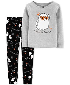 Carter's Baby Girls 2-Pc. Cotton Boo-Gie Pajama Set