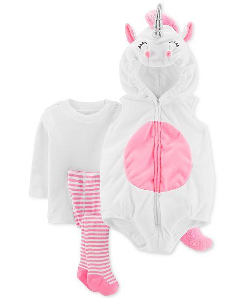 Carter's Baby Girls 3-Pc. Little Unicorn Costume