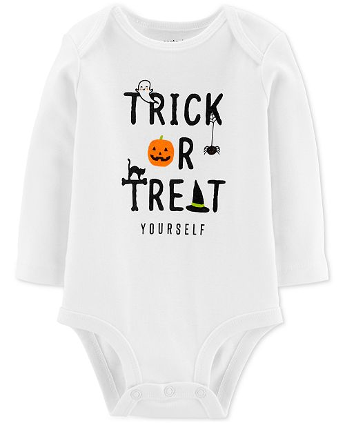 Carter's Baby Boys & Girls Trick Or Treat Cotton Bodysuit