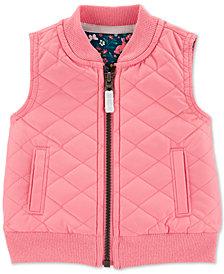 Carter's Baby Girls Zip-Up Poplin Vest