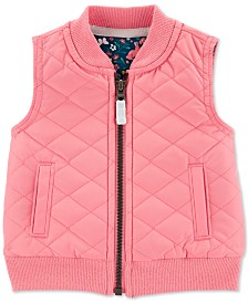 Carter's Baby Girls Zip-Up Poplin Vest