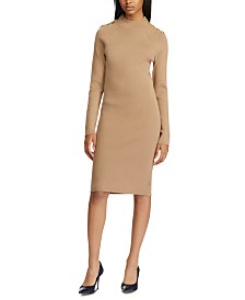 Lauren Ralph Lauren Long-Sleeve Sweater Dress