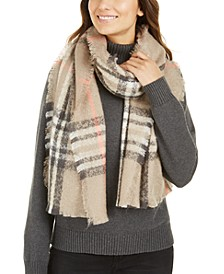 Bouclé Plaid Wrap, Created For Macy's