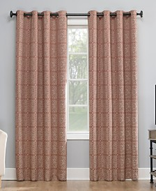 "Sun Zero Evie 50"" x 63"" Medallion Jacquard Blackout Curtain"